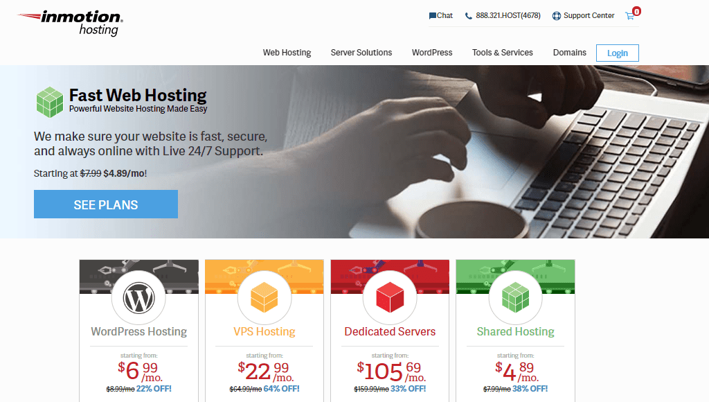 inmotion web hosting services