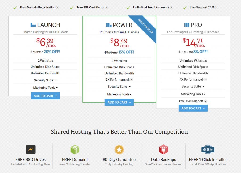 Inmotion web hosting plan