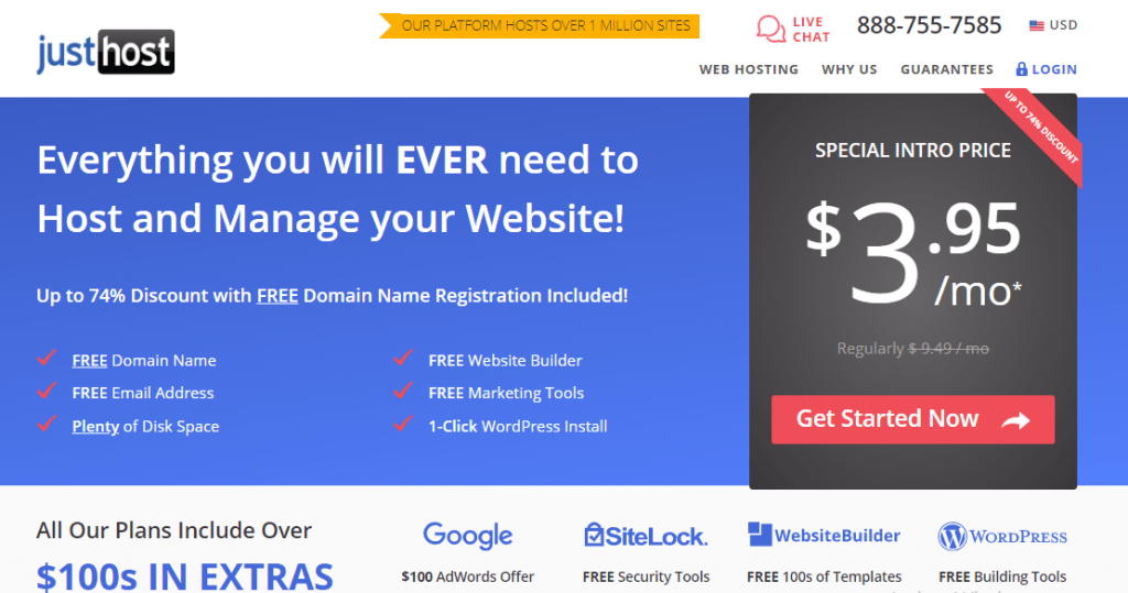 justhosting web services